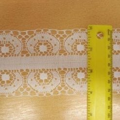 Lace Trimming Lizzie White 8cm Wide