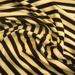 Jersey T-Shirting 1cm Stripe lemon/black