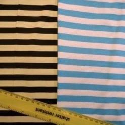 Jersey T-Shirting 1cm Stripe