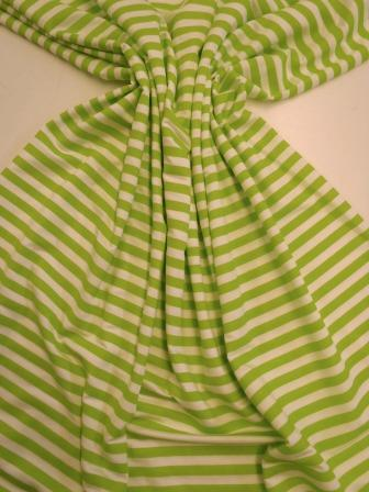 T-Shirting Fabric Lime And White Stripe