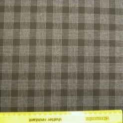 Tartan Suiting Fabric Mc Black Tartan