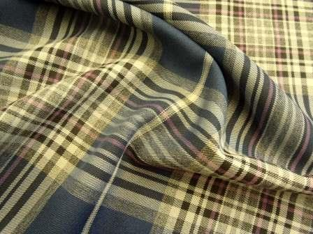 Tartan Suiting Fabric Dorset Tartan navy/purple