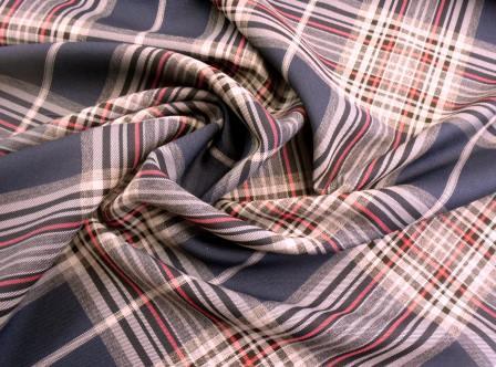 Tartan Suiting Fabric Dorset Tartan navy/red