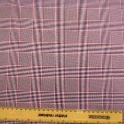 Suiting Fabric Prince Of Wales Black/Orange