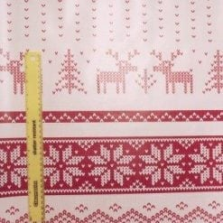 PVC Tabling Fabric Christmas Stag red