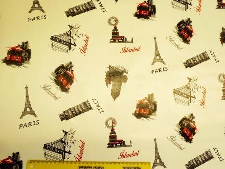 PVC Tabling Fabric Paris Italy Istanbul