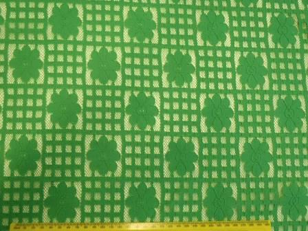 Lace Fabric Daisy Block Heavy Lace green