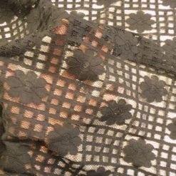 Lace Fabric Daisy Block Heavy Lace black