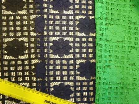 Lace Fabric Daisy Block Heavy Lace
