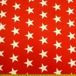 Lycra Patterned Fabric Star Struck red