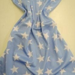 Lycra Patterned Fabric Star Struck pale blue