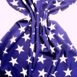 Lycra Patterned Fabric Star Struck navy