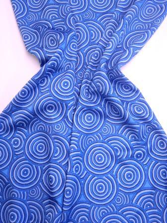 Lycra Patterned Fabric Blue Dorset Rock