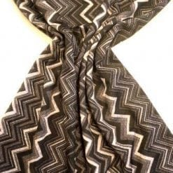 Lycra Patterned Fabric Grey Chevrons