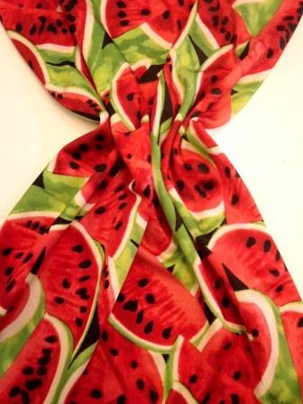 Lycra Patterned Fabric Melons