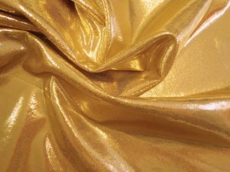 Lycra Hologram Fabric Translucent gold