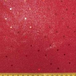 Lycra Foil Fabric Red Lustre spot