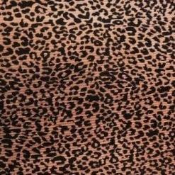 Satin Fabric Leopard Print Pleating