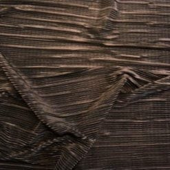 Satin Fabric Black Bombshell Crystal Pleating