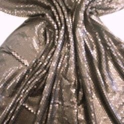 Sequin Fabric Fat Rain Matt Black
