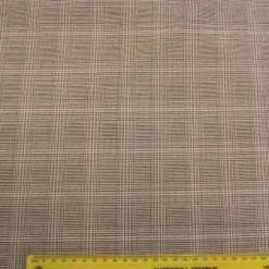 Suiting Fabric Prince Of Wales Grey St Henry