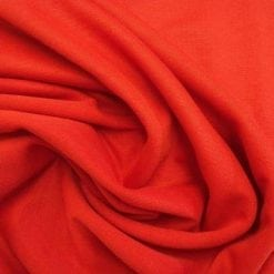 Ponte Roma Jersey Fabric Red Polyester