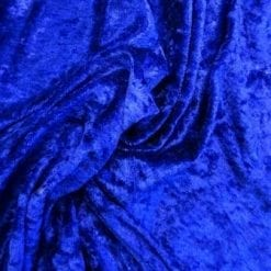 Crushed Velvet Fabric Royal