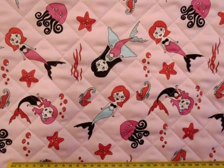 Quilting Fabric Pink Under The Sea