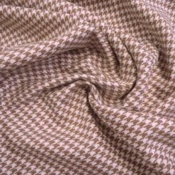 Suiting Fabric Caramel Dogtooth