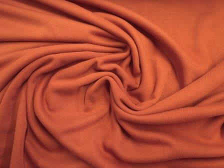 Heavy Jersey Fabric Ponte Roma rust