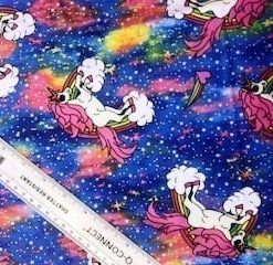 Lycra Unicorn Galaxy Fabric