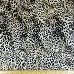 Lycra Patterned Fabric Wild Leopard