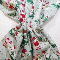 Christmas Fabric 100% Cotton Ski-ing Reindeer