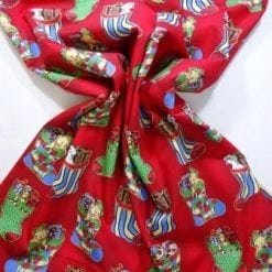 Cotton Fabric Christmas Stockings red