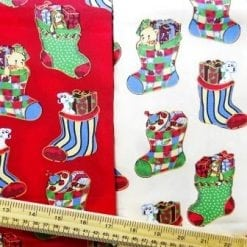 Cotton Fabric Christmas Stockings