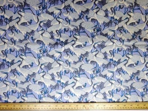 Cotton Fabric Stork Fest blue
