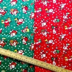 Christmas Fabric 100% Cotton Santa Hip Hop