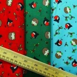 Christmas Cotton Fabric Christmas Robin