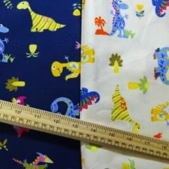 Cotton Printed Fabric Dinosaur Sauce