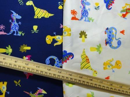 Cotton Printed Fabric Dinosaur Sauce
