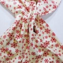 Christmas Cotton Fabric Snow Flakes ivory