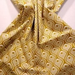 Astoria cotton print mustard/ivory