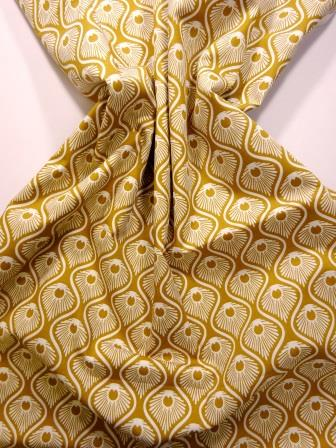 Astoria cotton print mustard/ivory