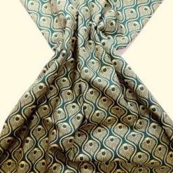 Astoria cotton print green/mustard