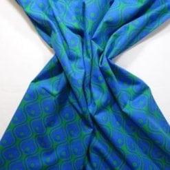 Astoria cotton print green/royal
