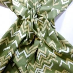 Cotton Fabric Chevrons khaki