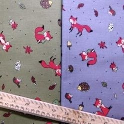Foxes Printed Cotton Fabric