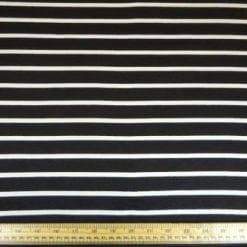 Jersey Fabric Black/White Jail Break