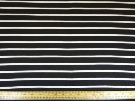 Jersey Fabric Black/White Jail Break