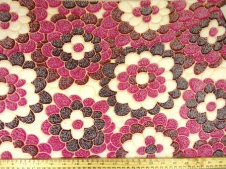 Cerise Huggable Fleece Fabric Flower